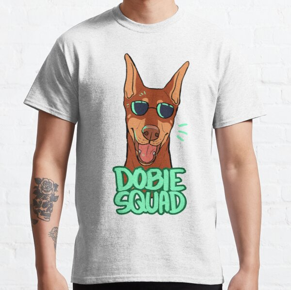 DOBIE SQUAD (red + cropped) Classic T-Shirt