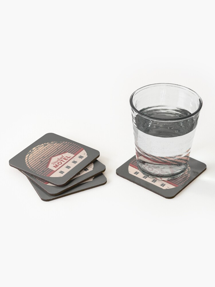 Alternate view of Schitt's Creek Rosebud Motel Coasters (Set of 4)