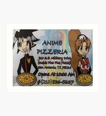 Anime Pizzaria Art Print