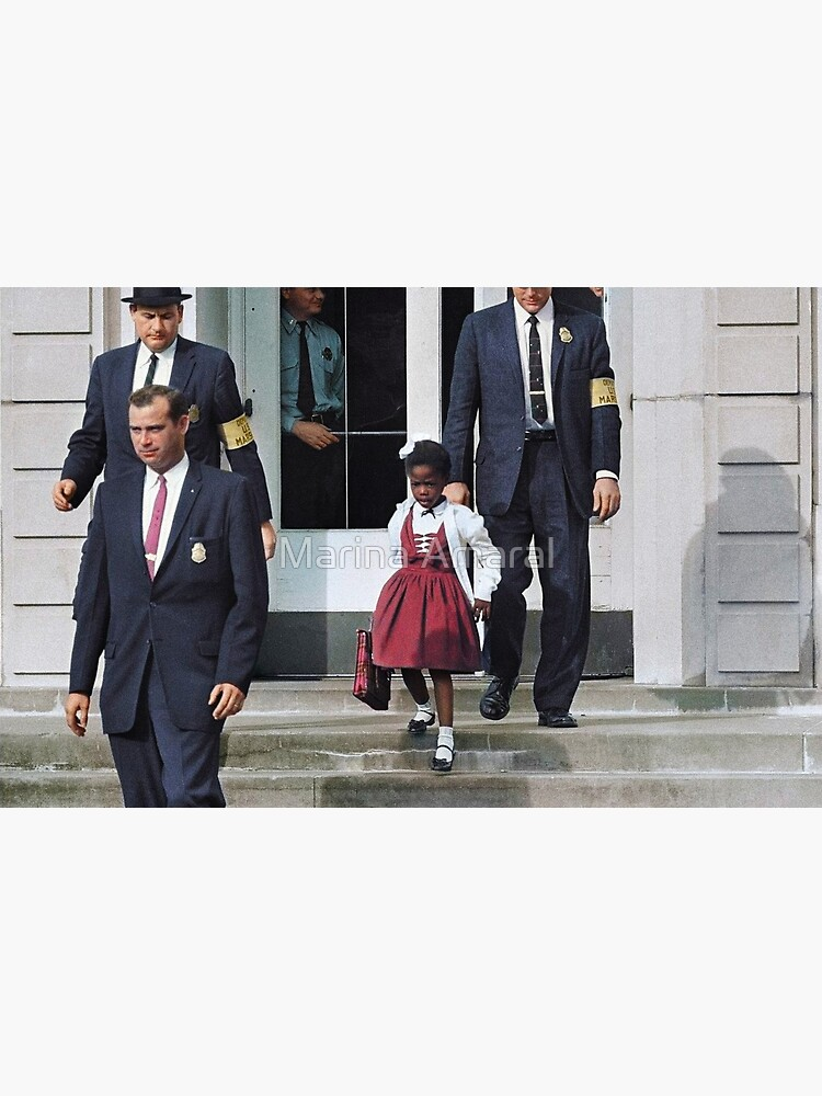 Ruby Bridges, escorted by U.S. Marshals to attend an all-white school, 1960 by marinamaral