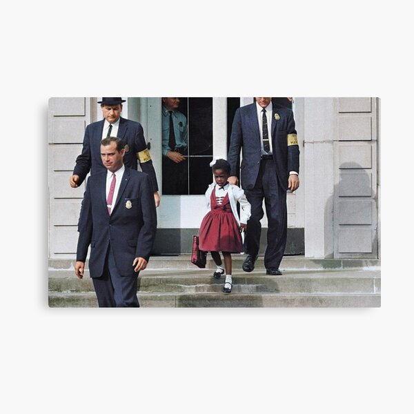 Ruby Bridges, escorted by U.S. Marshals to attend an all-white school, 1960 Canvas Print