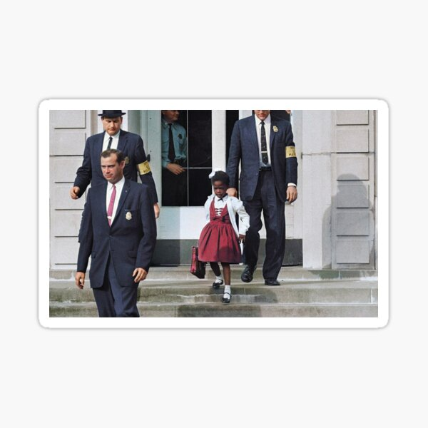 Ruby Bridges, escorted by U.S. Marshals to attend an all-white school, 1960 Sticker