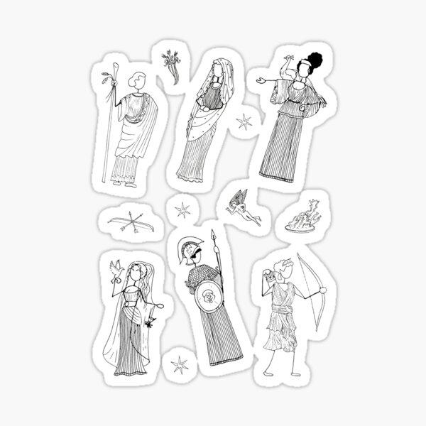 Greek Myth Comix - The Gods Sticker Pack 1 Sticker