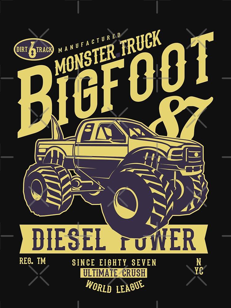 Diesel Power Monster Truck Madness Big Foot 87 by NextLVLShirts