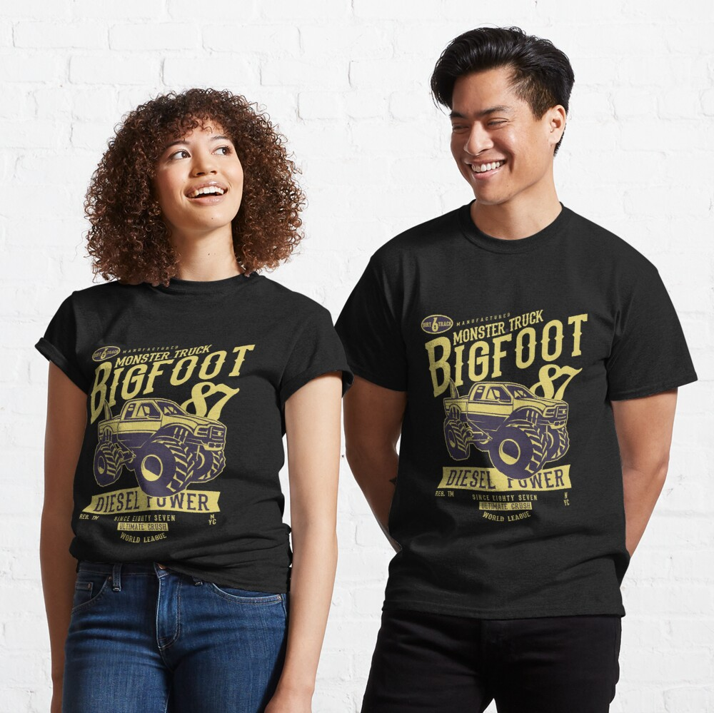 Diesel Power Monster Truck Madness Big Foot 87 Classic T-Shirt