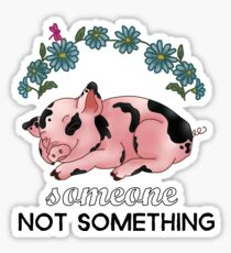 A Pig is SOMEONE, Not Something Sticker