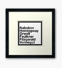 Famous Authors Framed Print