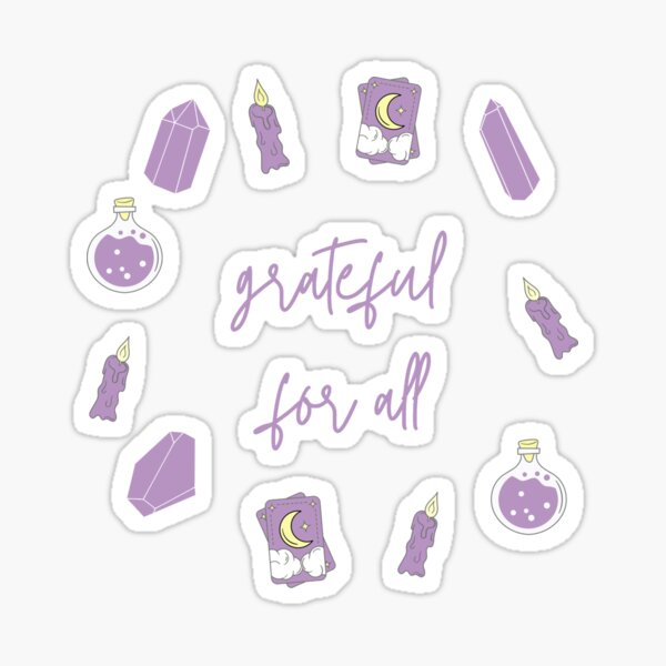 Manifestation Design Gratitude Spiritual Sticker