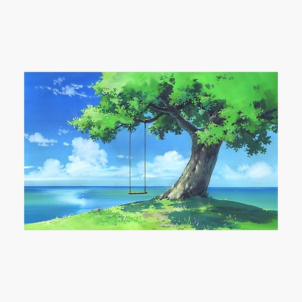 Forest and sea landscape Photographic Print