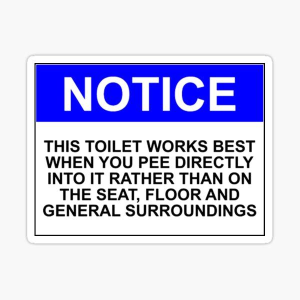 Please Don't Pee On The Floor Sticker