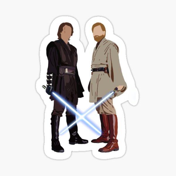Obi wan and anakin Sticker