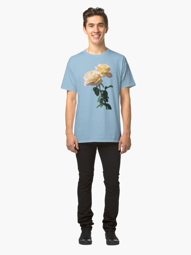 Alternate view of Yellow & Pink Rose Classic T-Shirt