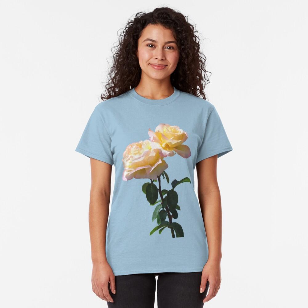 Yellow & Pink Rose Classic T-Shirt