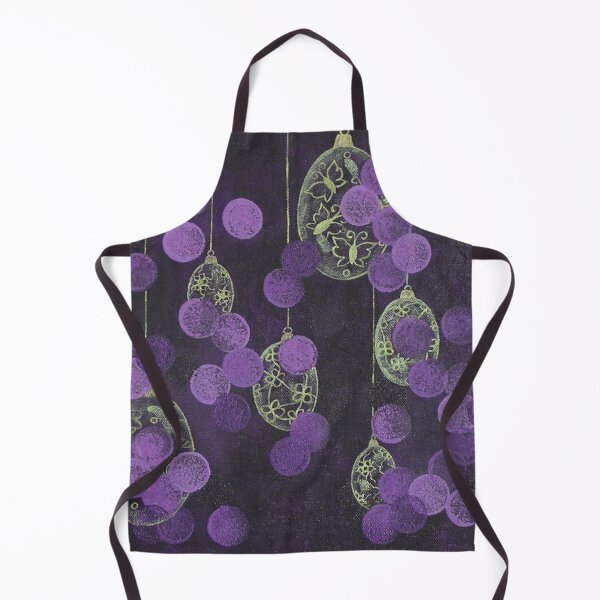Golden Easter eggs / acrylic painting Apron