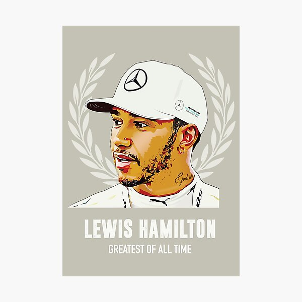 Lewis Hamilton - Greatest of All Time Photographic Print