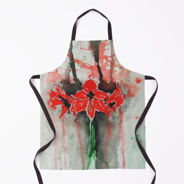 Amaryllis / watercolor Apron