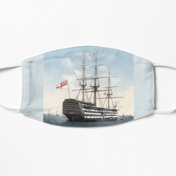 HMS VICTORY. The oldest warship still in commission in the world. Flat Mask