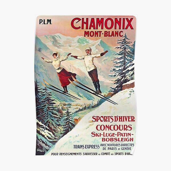 Chamonix, Mont Blanc - Vintage Poster
