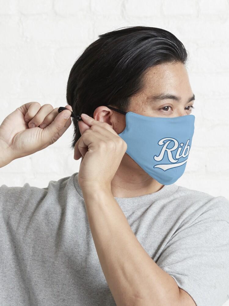 Alternate view of KC Ribs - Powder Blue 2 Mask