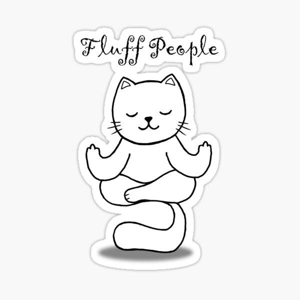 Meditation cat - Fluff people Sticker