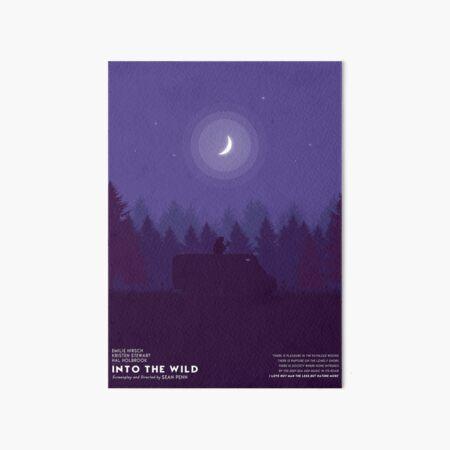Into The Wild minimalist Poster  Art Board Print