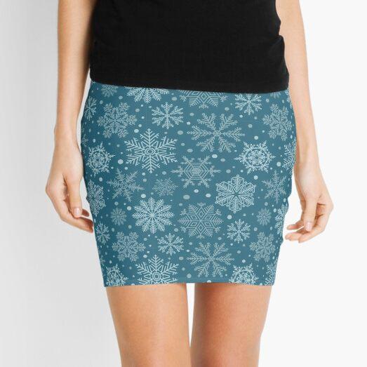 Snowflake vintage blue christmas ice Mini Skirt