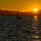 Sailing into the sunset, Lago Trasimeno, Umbria, Italy by Andrew Jones