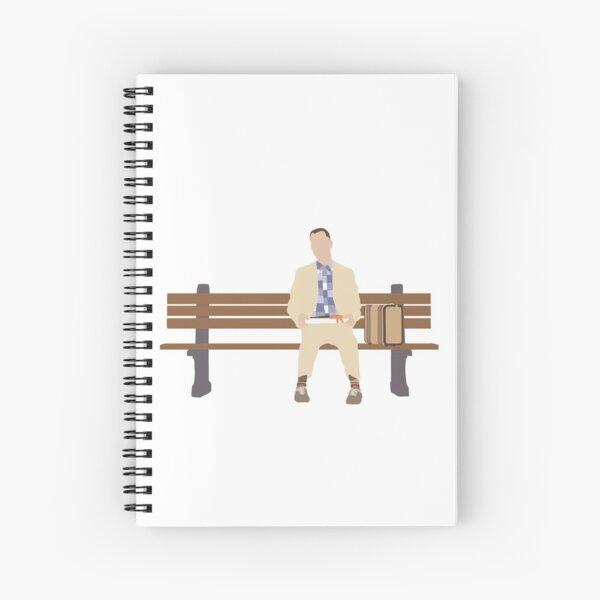 Forrest Gump illustration Spiral Notebook