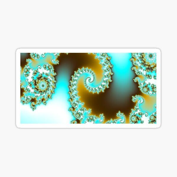 Aqua fractal Sticker