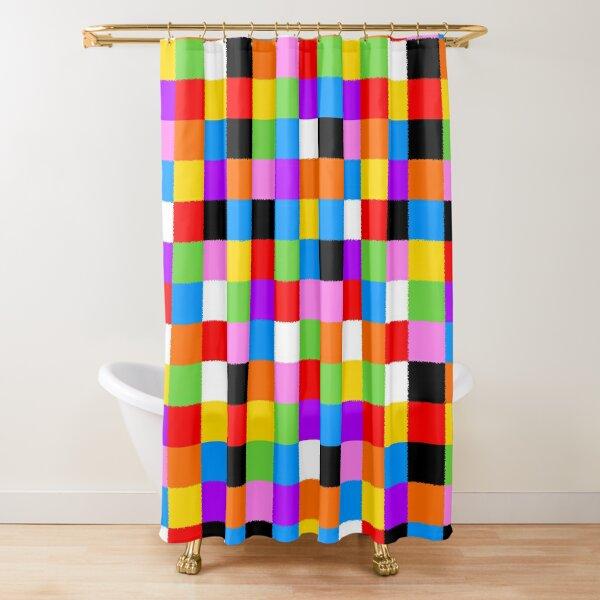 Elmer Patchwork Shower Curtain