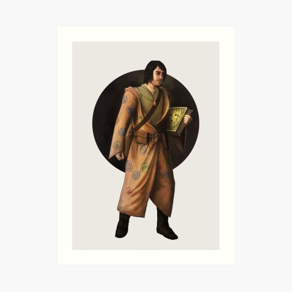 Warlock Adventurer Fantasy Print Art Print