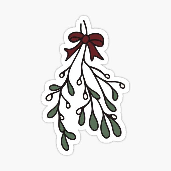 Mistletoe Cartoon Sticker