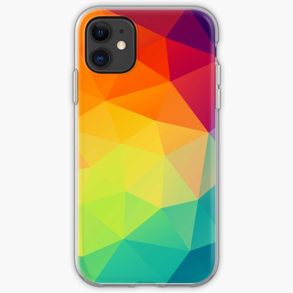 colorful crystal pattern iPhone Soft Case