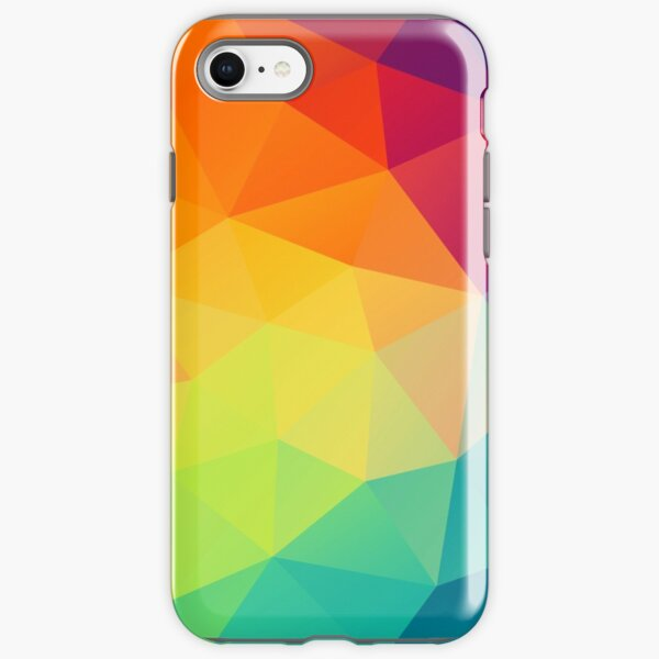colorful crystal pattern iPhone Tough Case