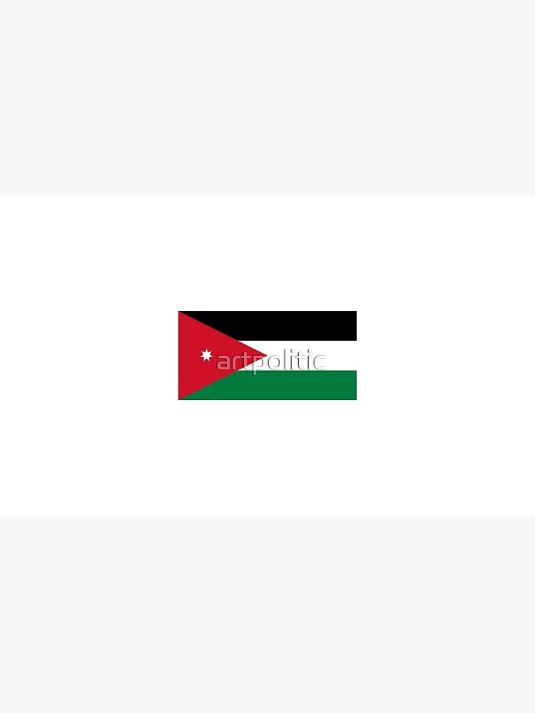 Nationalflagge von Jordanien von artpolitic