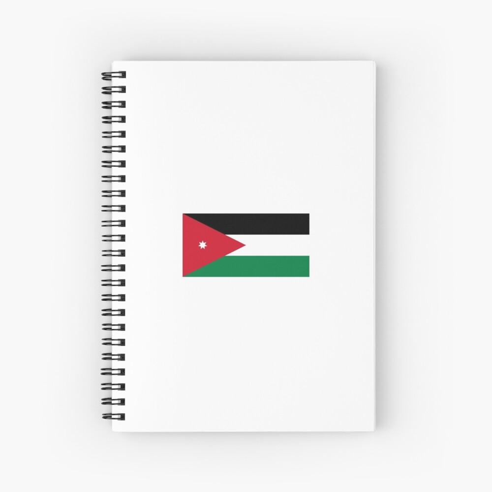 Nationalflagge von Jordanien Spiralblock