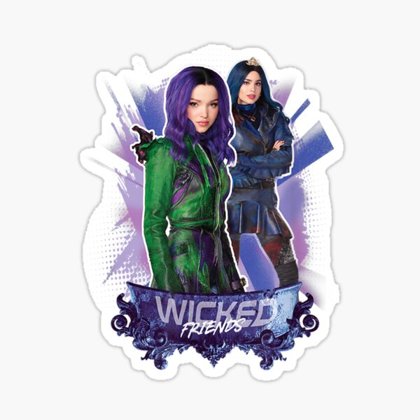 Descend 3 Mal and Evie Wicked Friends Sticker