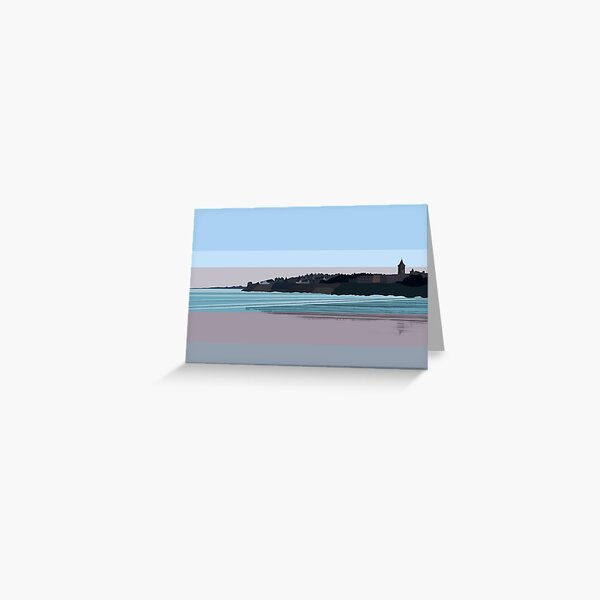West Sands at Sunset, St Andrews, Scotland Greeting Card