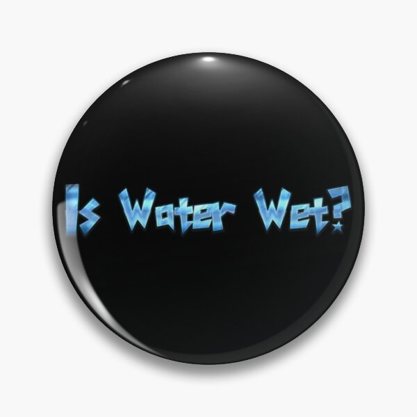 Is Water Wet?  Pin