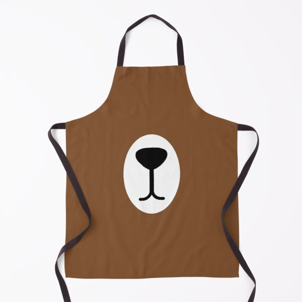 Cute Brown Bear Mask Apron