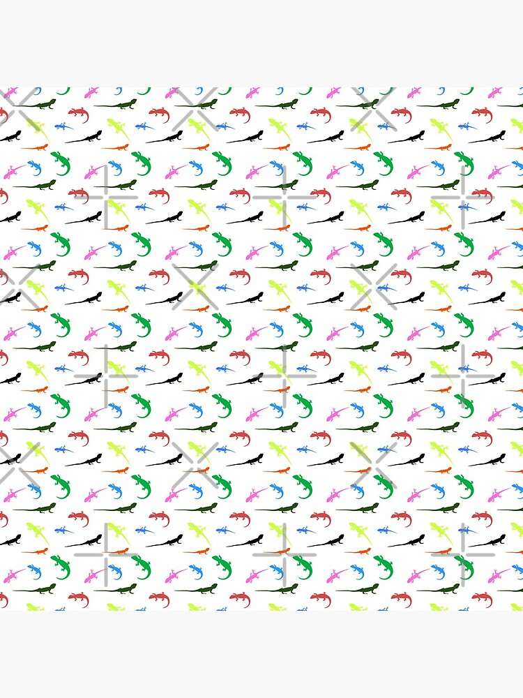 Repeating colorful lizards by snibbo71