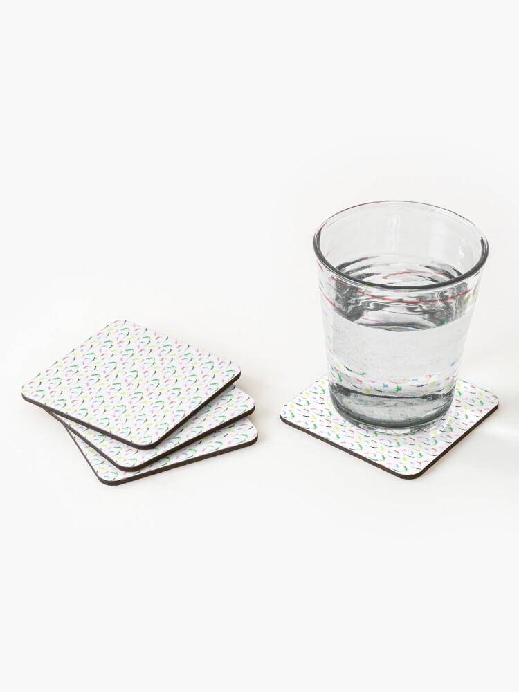 Alternate view of Repeating colorful lizards Coasters (Set of 4)