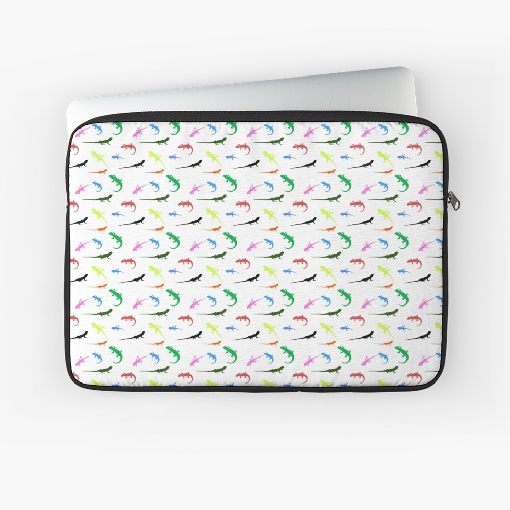Repeating colorful lizards Laptop Sleeve