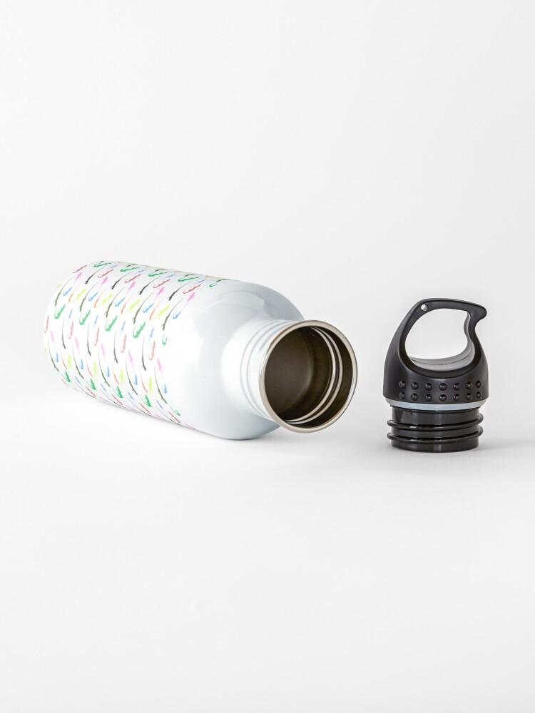 Alternate view of Repeating colorful lizards Water Bottle