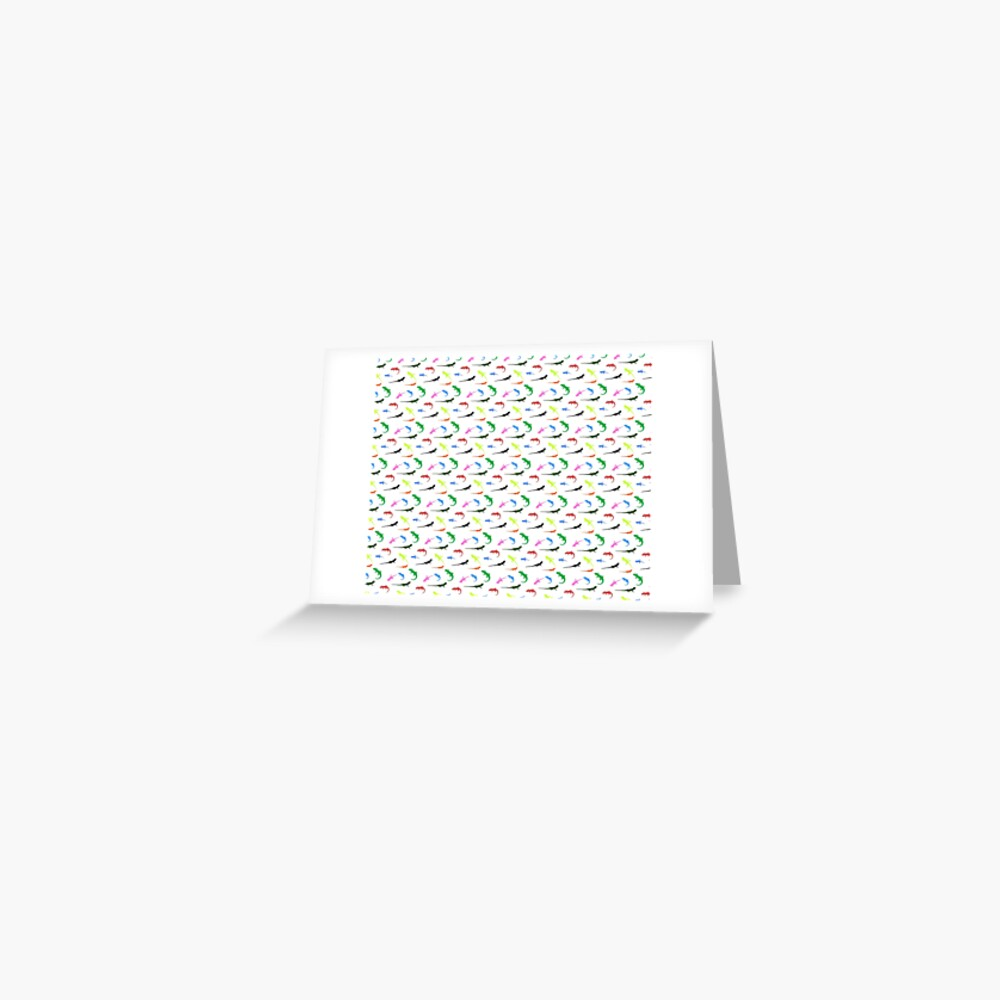 Repeating colorful lizards Greeting Card