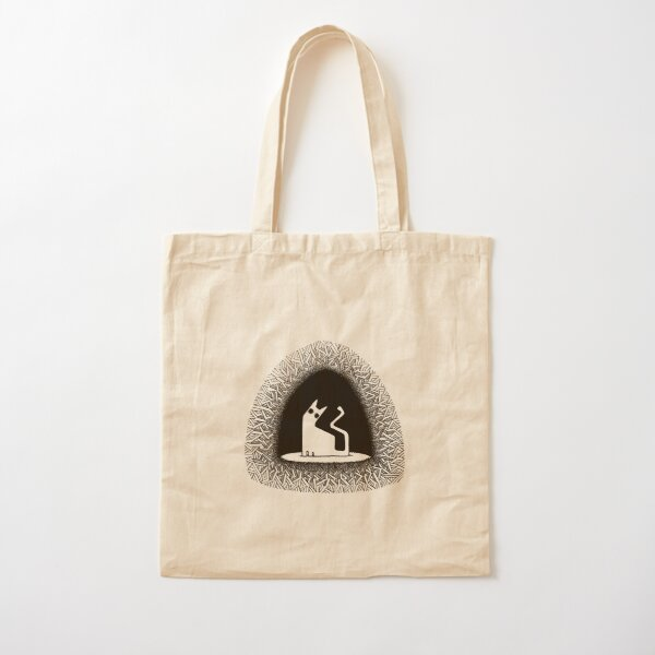 hey. (black vers.) Cotton Tote Bag