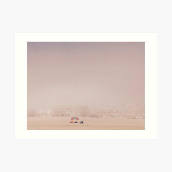 Venice Beach im Nebel,  Kalifornien  Kunstdruck