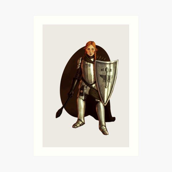 Halfling Cleric Fantasy Portrait Print Art Print