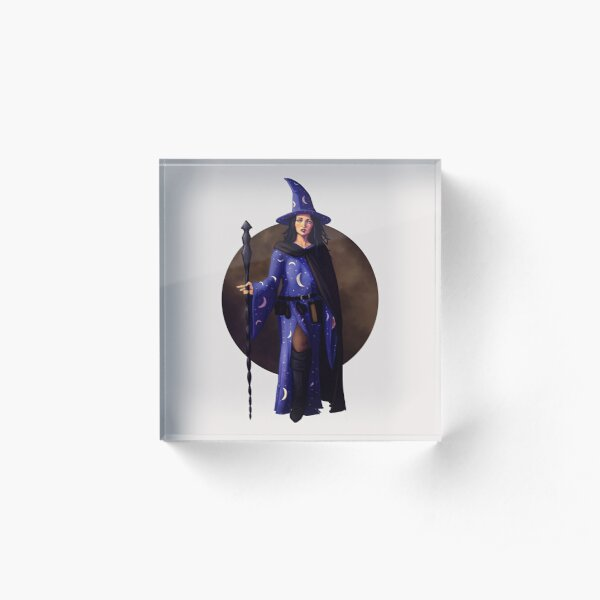 Witch Fantasy Pinup Print Acrylic Block