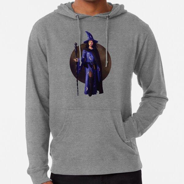 Witch Fantasy Pinup Print Lightweight Hoodie